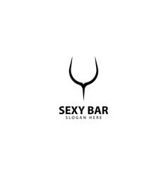 Sexy bar logo design icon vector
