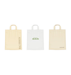 Shopping bag set vector