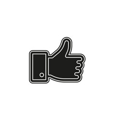 simple hand thumb up icon vector image