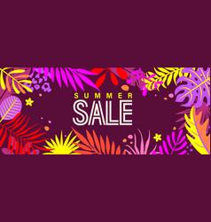 Summer sale banner for 2021 hot season vector