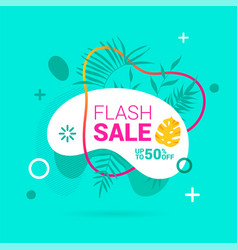 summer sale banner template liquid abstract vector image
