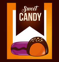 Sweet candy card vector