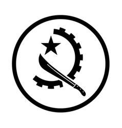 Symbol angola - iconic design vector