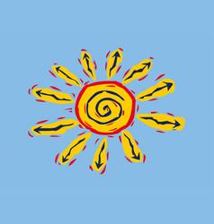 Symbol of the sun vector