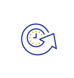 Update time line icon refresh watch sign vector