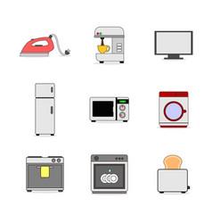 various home appliance stuffs set vector image