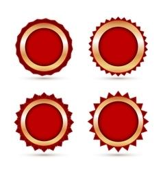 Vintage red labels template set vector