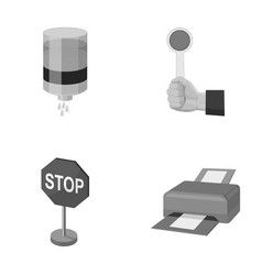 Water filter stop sign and other monochrome icon vector