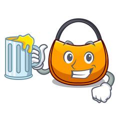 With juice hobo bag outline on image cartoon vector