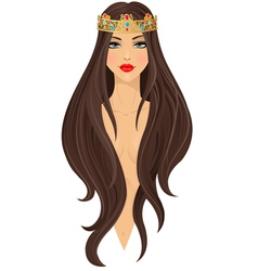 Beautiful girl in crown vector image vector image