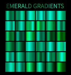 emerald gradients collection for design vector image vector image