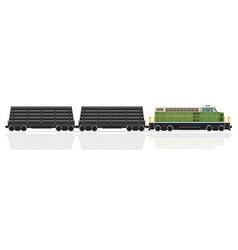 railway train 29 vector image vector image