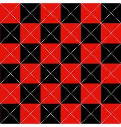 Red black chess board diamond background vector