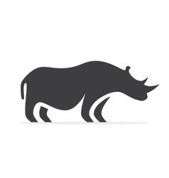 rhino logo or icon vector image