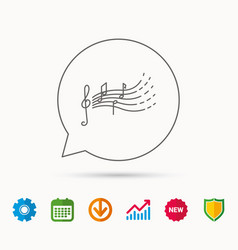 songs for kids icon musical notes melody sign vector image
