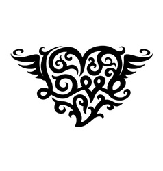tattoo with love heart symbol vector image vector image