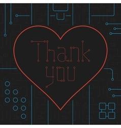 Thank You Techno Line Art Bakcground vector image vector image
