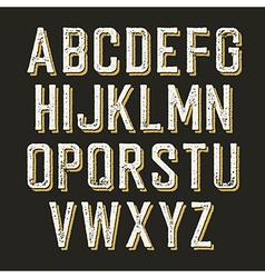 Vintage alphabet letters vector image vector image
