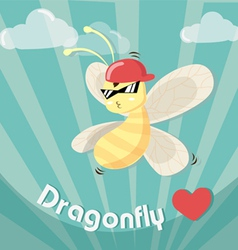 dragonfly boy cool vector image