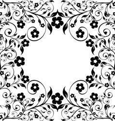 flower ormanent on white vector image vector image