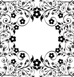 flower ormanent on white vector image