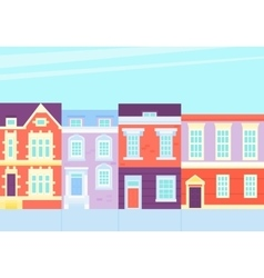 Old town Street with vintage houses vector image