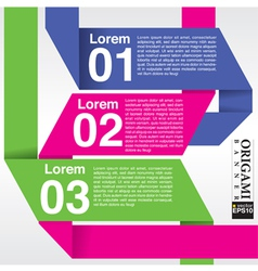 Origami banner in three step EPS10 vector image