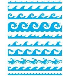 seamless ocean wave set vector image vector image