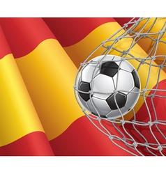 Soccer goal and Spain flag vector image