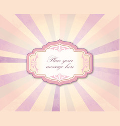 vintage frame over retro textured background vector image