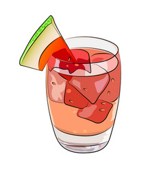 watermelon summer drink sangria cocktail vector image