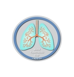 World Tuberculosis Day - March 24 Lungs Baner vector image