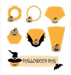 Halloween label vector image vector image