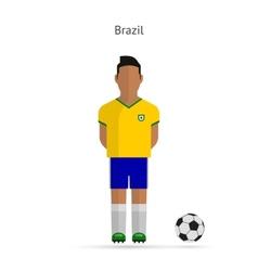 National football player Brazil soccer team vector image vector image
