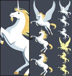 Pegasus Unicorn Stallion vector image
