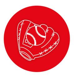 baseball glove with ball vector image
