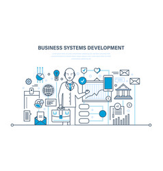 business systems development analysis research vector image