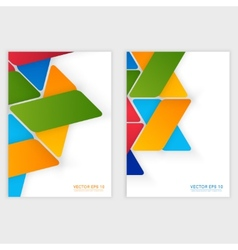 design with triangles on the grey vector image vector image