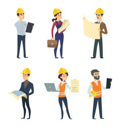 male and female workers of engineers and other vector image vector image