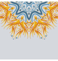 Part of a bright mandala ornament with place for vector image
