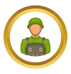 Soldier icon vector image