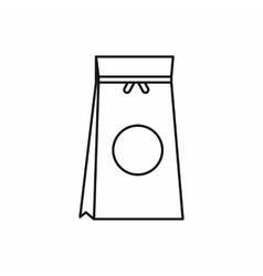 Tea packed in a paper bag icon outline style vector image vector image