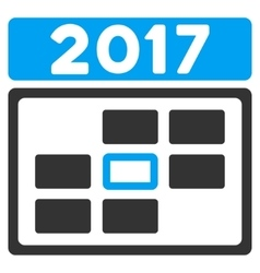 2017 Date Flat Icon vector image