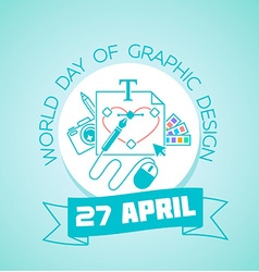 27 April World Day of Graphic Design vector