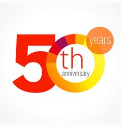 50 anniversary chart logo vector image
