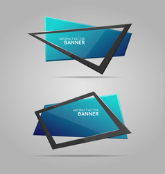 abstract banner with frame vector image