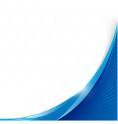 abstract blue smooth wavy with blurred light vector image