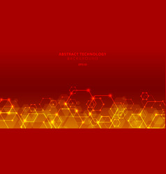 abstract technology hexagons genetic and social vector image