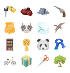 Animals education sports and other web icon in vector