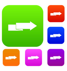 arrow to right set collection vector image